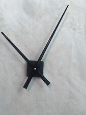"9-1/2"" Black Clock Hands with Continuous Sweep High Torque Mini Quartz Movement"