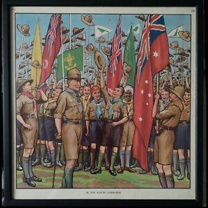 VTG Scout Jamboree Poster Print no.56 Baden Powell & Boy Scouts Memorabilia Art
