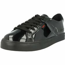 Kickers Tovni Lacer Black Patent Adult School Shoes