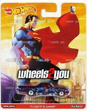 71 CHEVY EL CAMINO Superman - Hot Wheels Pop Culture DC COMICS Real Riders