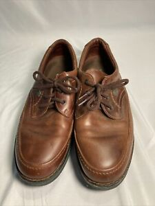 The Body Shoe Mens 9 EW brown leather hush puppies walking shoe 18915 extra wide