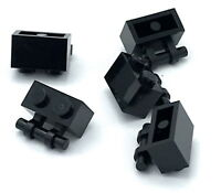 Lego 5 New Black Bricks Modified 1 x 2 x 2//3 No Studs Wing End Pieces