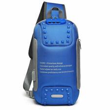 Multi-functional chest bag,blue