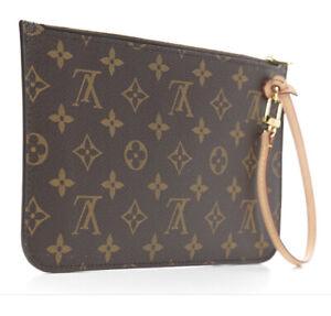 2020 Louis Vuitton Neverfull MM GM Pouch Bag Pochette Wristlet Clutchn Bag