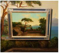 Blick auf den Ätna Sizilien. Antikes Ölgemälde signiert OTTO GELENG *1843 BERLIN