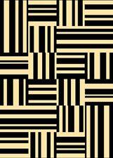 """UNIQUE geometric BLACK BOXES modern CARPET 6x8 area RUG : Actual 5' 3"""" x 7' 4"""""""