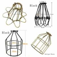 Vintage Edison Metal Wire Cage Hanging Vintage Shade Pendant Light Chandelier