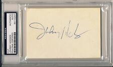JOHNNY HODGES Rare Signed Album Page Cut Slabbed Jazz Great Saxophonist PSA/DNA