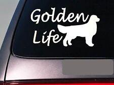 """Golden life 6"""" sticker *E753* golden retriever decal vinyl lab duck hunting"""