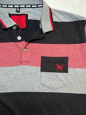 100% Mambo Polo Style Shirt. Stripped. Size XL