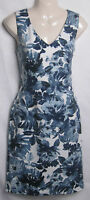NEW LADIES WALLIS BLUE FLORAL PRINT TUNIC SHIFT DRESS SIZE -  8
