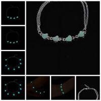 Glow In The Dark Chain Anklet Ankle Bracelet Barefoot Sandal Foot Jewelry JP