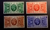 Great Britain KGV SC # 226-229 * SG 453-456 * 1935 Silver Jubilee MLH Set