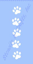 "1.50"" PAW PRINT STENCIL BORDER ANIMAL CRAFT STENCILS PAWS TEMPLATE TEMPLATES NEW"