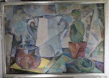 Hürten Ferdinand Münster * 1889 Gemälde Stillleben mit Kaktus / Kubismus 1958