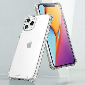 for iPhone 12 Pro Max case Shockproof Crystal Clear TPU Soft Silicone