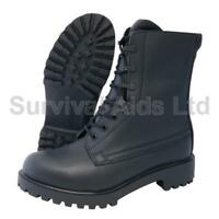 Black Leather British Assault Boot (UK Size 3 to 6)