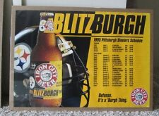 Vintage 1995 Pittsburgh Steelers Schedule Poster Blitzburgh Shrink Wrapped