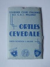 ORTLES CEVEDALE carta sciistica TCI SCI CAI Milano montagna ski touring mappa