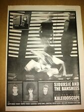SIOUXSIE & Banshees Kaleidescope 1980 UK Poster size Press ADVERT 16x12 inches