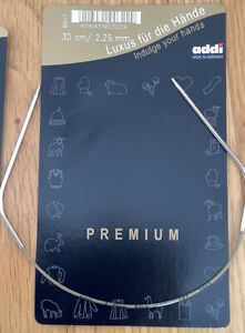 Addi Premium Circular Knitting Needle with Silver Tips.30cm, 2.25mm nedle.