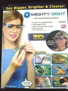 Real MIGHTY SIGHT LED Magnifying Eyewear NOT FAKE w/ Original Package FAST SHIP