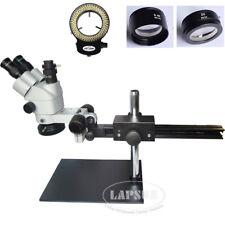3.5-90X Simul-focal Trinocular Articulating Arm Pillar Stand Stereo Microscope S