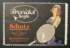 Early 1900's Providol German Soap Poster Stamp Skin Hair Protection Viking Woman