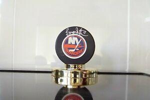 NY Islander Bryan Trottier Autographed Hockey Puck