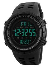 RSVOM Mens Digital Watch - 50M Waterproof Men Sports Watches, Black Big Face LED