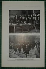 1916 WWI WW1 PRINT ~ OPENING OF WAR CONFERENCE BRITISH M.P ~ HOUSE OF COMMONS