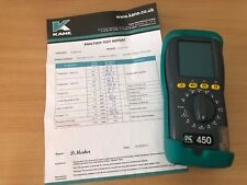Kane 450 combustion Flue Gas Analyser No calibration SN:0744215168
