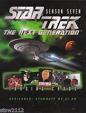 STAR TREK THE NEXT GENERATION SEASON 7 ULTRA MASTER SET AUTOGRAPHS BINDER PROMOS