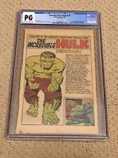 Fantastic Four Annual 1 CGC PG OWW Page Color (Classic Hulk Gallery Page!!)