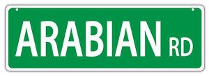 Plastic Street Signs: ARABIAN ROAD Horses, Gifts, Decorations