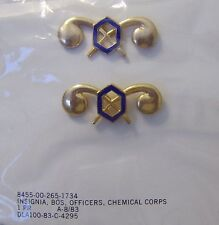 ARMY OFFICER BRANCH INSIGNIA CHEMICAL CORPS FULL COLOR