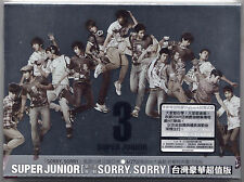 Super Junior: The 3rd Album Sorry Sorry - Special Edition (2009) CD & DVD TAIWAN