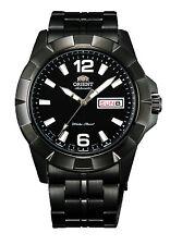 Orologio Orient Anchor FEM7L001B9 in acciaio moda uomo nero automatico data