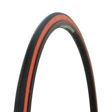 "Wanda Blke Bicicleta Tlre 27"" X 1-1 / 4"" Clásico Wirebead Negro/Naranja Lateral"