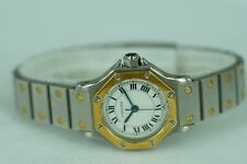 Cartier Uhr Santos Stahl/Gold Rondé Lady Automatik Full-Set aus 1980  V.Händler