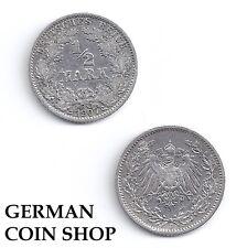 1/2 Mark SILBER 1905 1906 1915 1916 1917 1918 A D E F G J Kaiserreich
