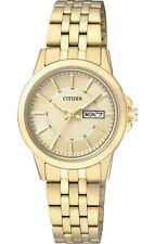 Citizen Quartz Ladies Dress Watch W.R 50M EQ0603-59P Gold Plated Steel UK Seller
