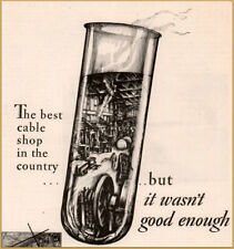 1929 Western Electric Test Tube Cable Shop Print Ad