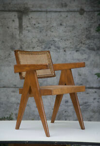 Office Cane Chair Pierre Jeanneret authentic