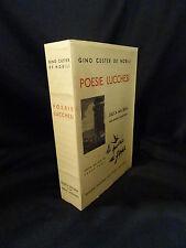 Poesie lucchesi - Gino Custer de nobili -Quarta edizione con nuove aggiunte 1952
