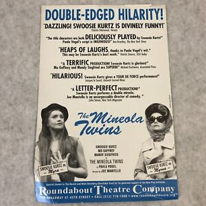 Vintage Handbill Broadway Ad Card 1999 Window Poster Mineola Twins Ashes to Ashe