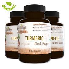 Turmeric and Black Pepper: 360 Capsules Piperine & Curcumin Antioxidant 500 mgs