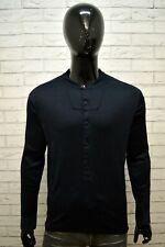 G-STAR Uomo Maglia Nera Taglia L Camicia Polo Manica Lunga Shirt Man Cotone Slim