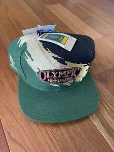 NWT Vtg 1996 Atlanta Olympics Summer Games Logo Athletic Splash Snapback Hat
