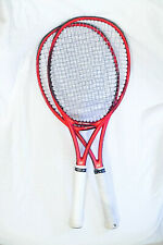 Used 2x YONEX VCORE 98 305g (RED) TENNIS RACQUET Grip size 4 3/8